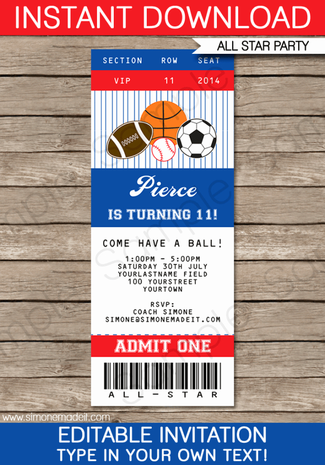 Free Baseball Ticket Template Unique Baseball Ticket Template Free Download Free Download