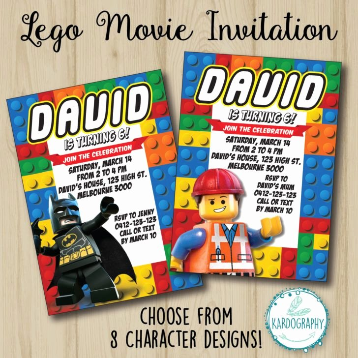 Free Batman Invitation Template Awesome Birthday Lego Movie Invitation Batman Birthday Party