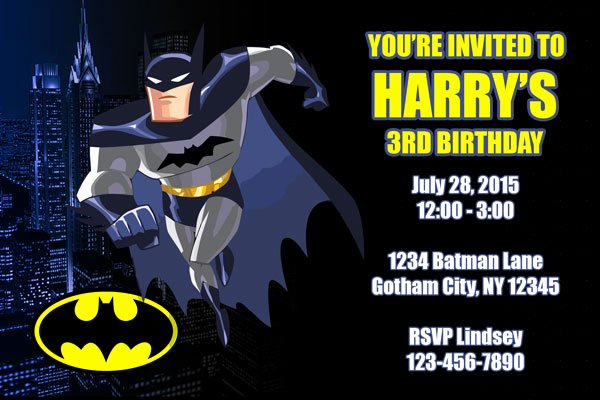 Free Batman Invitation Template Best Of Batman Invitations General Prints