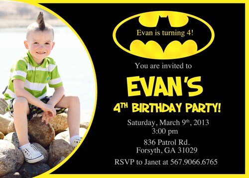 Free Batman Invitation Template Fresh Batman Birthday Invitations Ideas – Free Printable