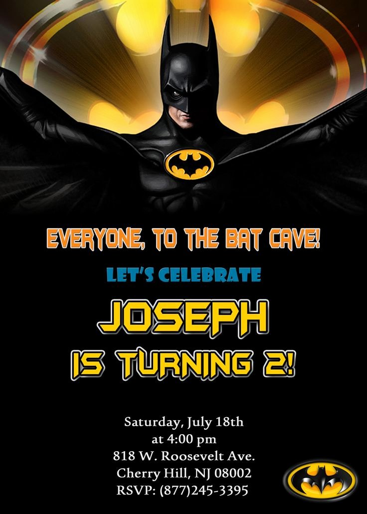 Free Batman Invitation Template Inspirational 25 Best Ideas About Batman Invitations On Pinterest