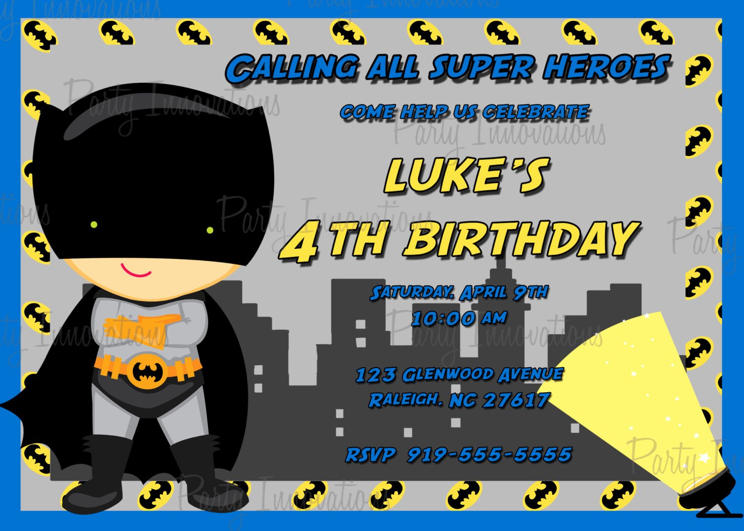 Free Batman Invitation Template Inspirational Batman Birthday Invitations Templates Ideas Batman and