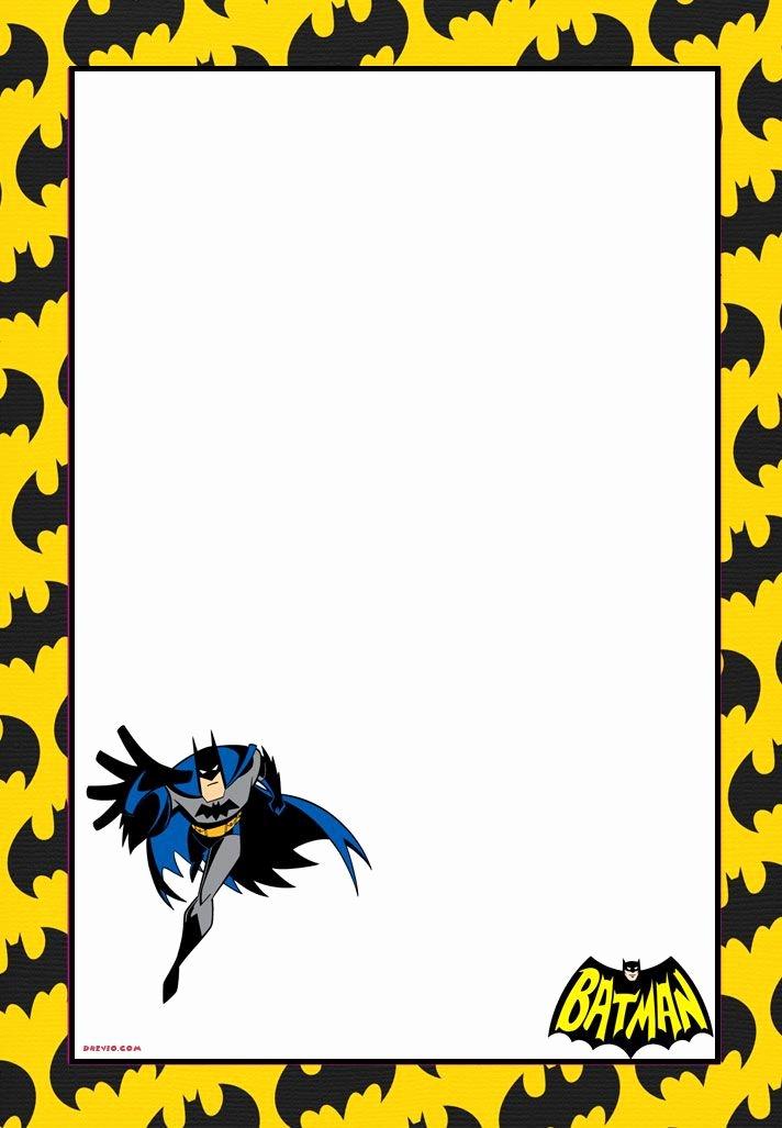 Free Batman Invitation Template Luxury Free Printable Batman forever Invitation