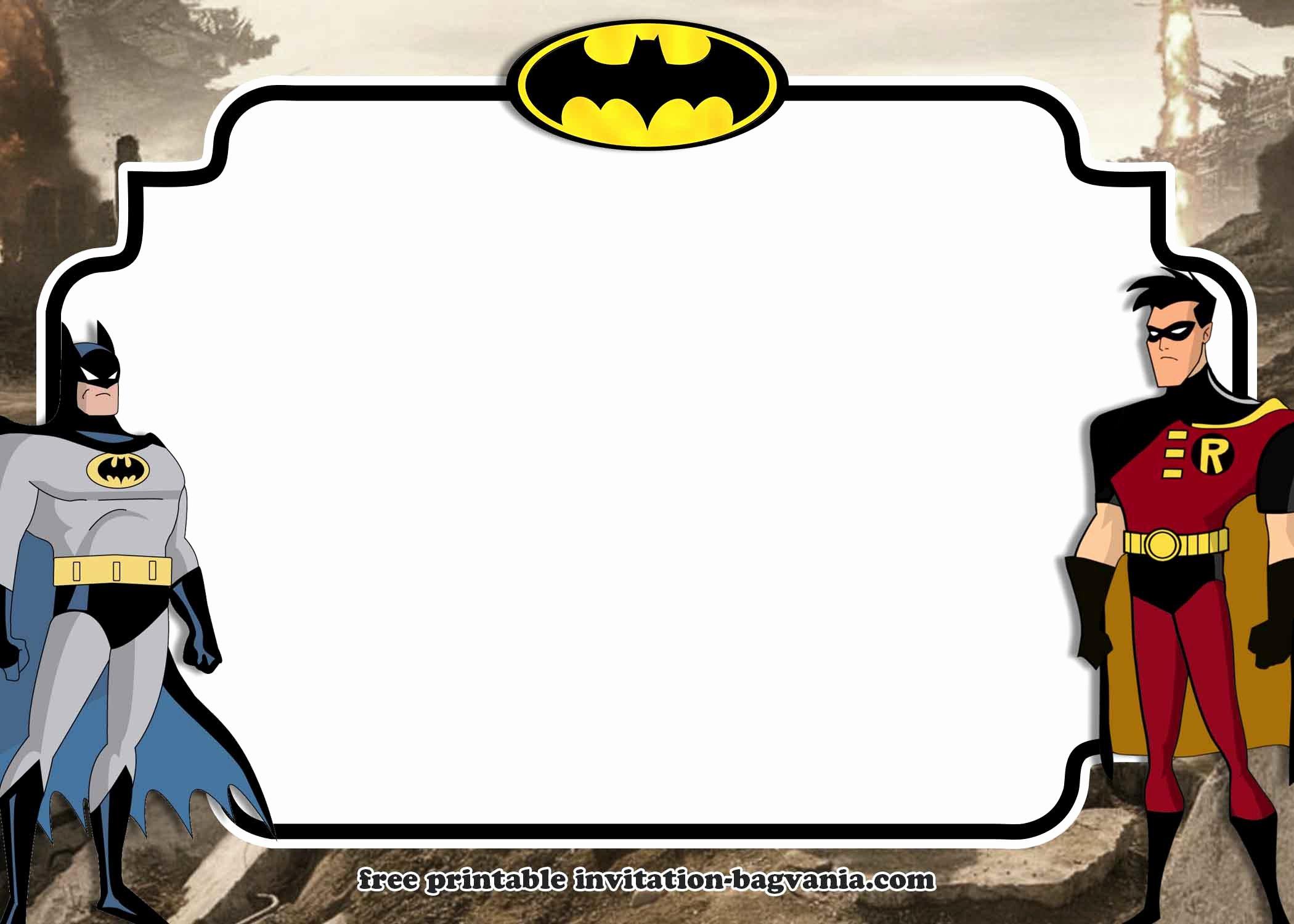 Free Batman Invitation Template Luxury Free Printable Batman Invitation Templates – Free