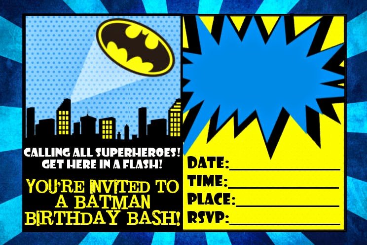 Free Batman Invitation Template Unique Batman Free Printable Mini Kit