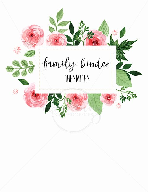 Free Binder Cover Printables Beautiful Family Binder Covers Free Planner Covers & Family Binder