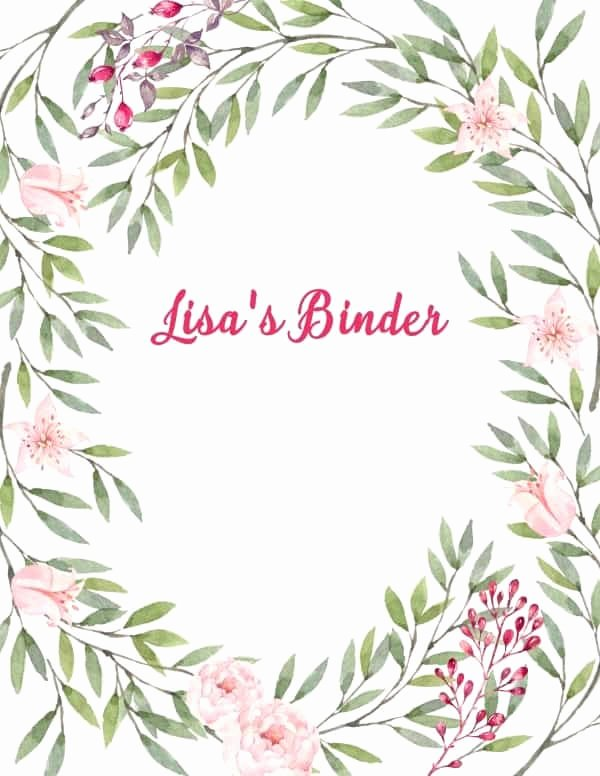 Free Binder Cover Printables Inspirational Free Binder Cover Templates