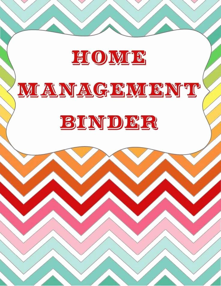 Free Binder Cover Printables New Let S Get organized Home Management Binder Free