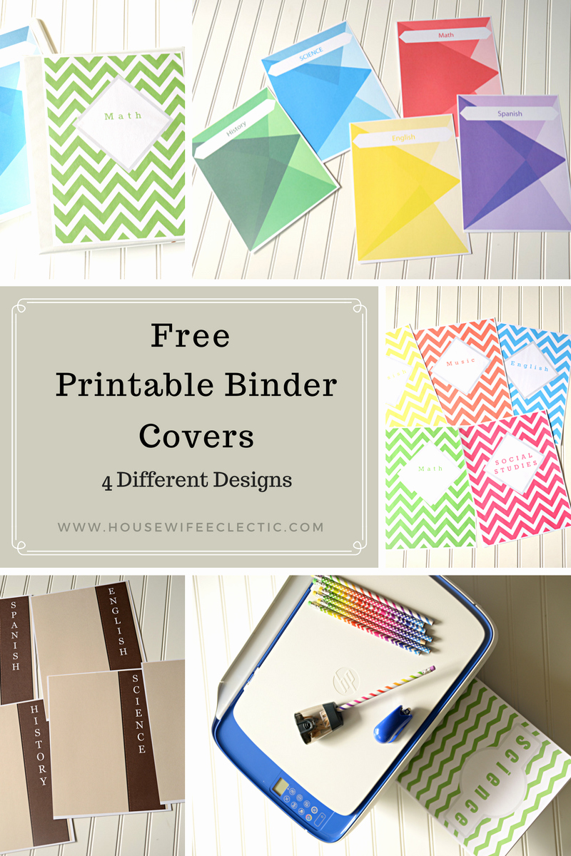 Free Binder Cover Printables Unique Free Printable Binder Covers 4 Different Designs