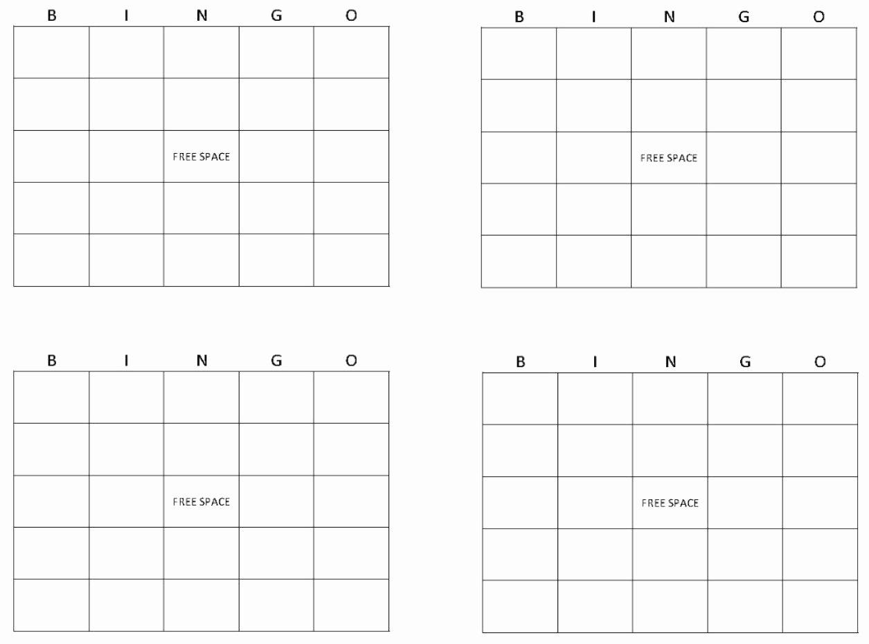 Free Bingo Card Templates Printable Beautiful Blank Bingo Cards