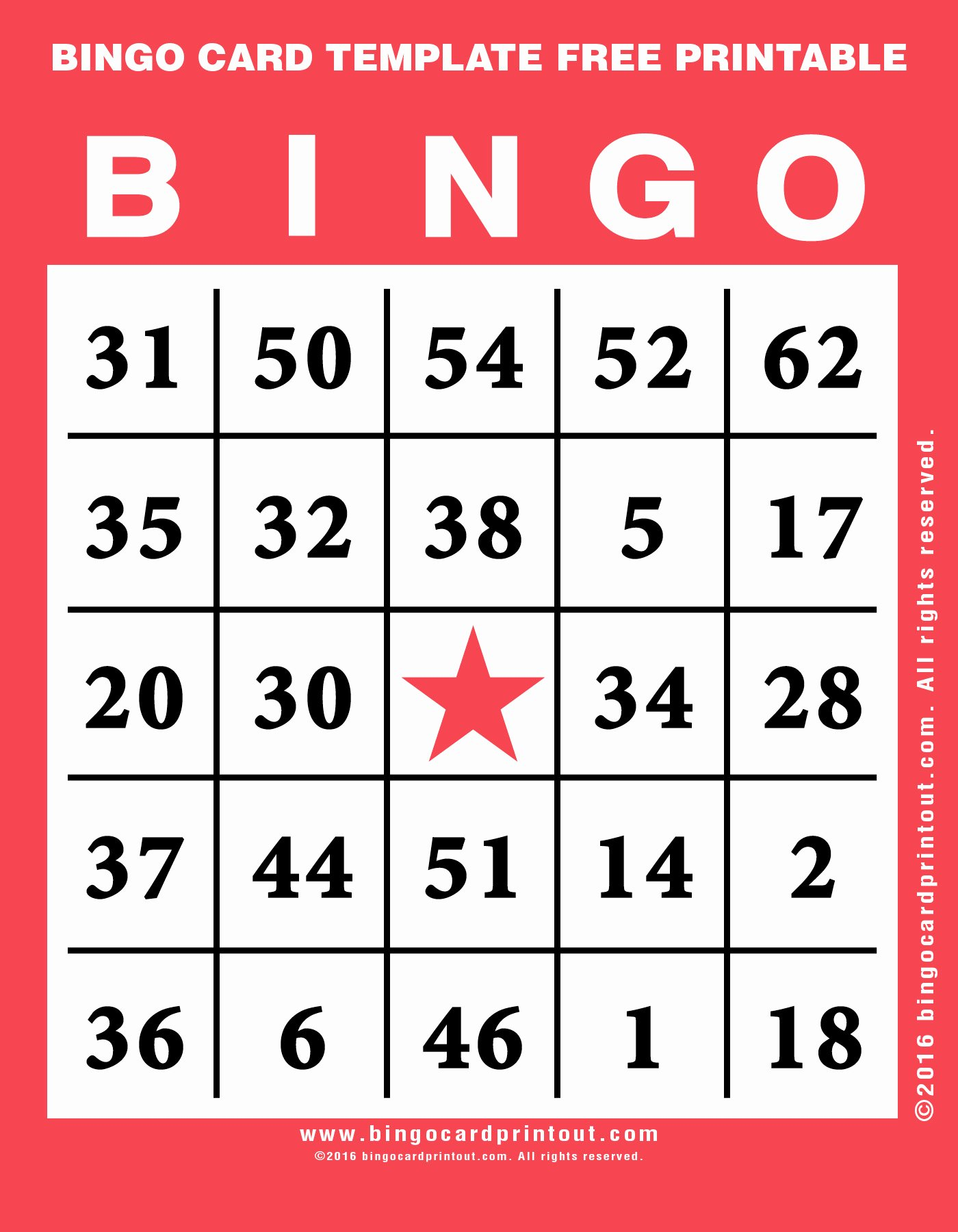 Free Bingo Card Templates Printable Best Of Bingo Card Template Free Printable Bingocardprintout