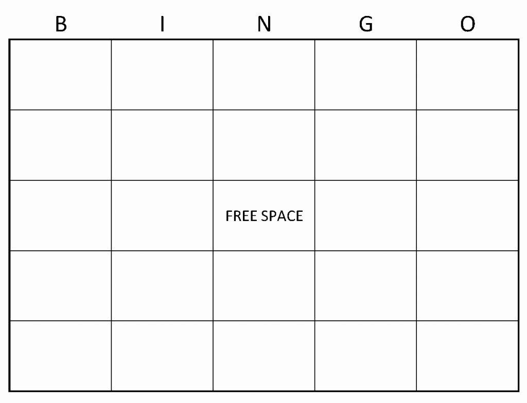 Free Bingo Card Templates Printable Best Of Blank Bingo Template