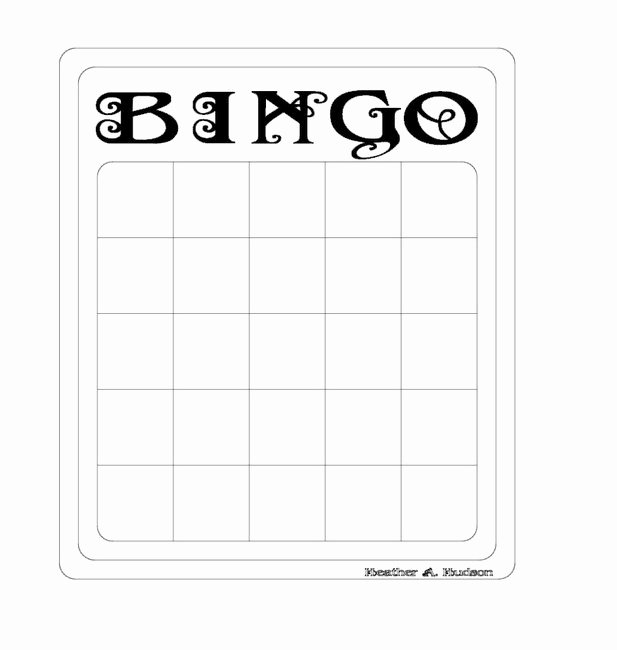 Free Bingo Card Templates Printable Best Of Heather A Hudson Bingo Templates and Bella Beauty Image