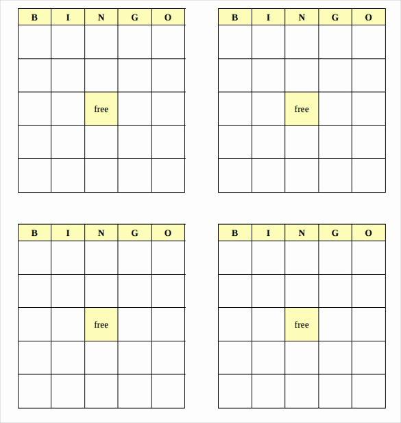 Free Bingo Card Templates Printable Elegant Blank Bingo Template 14 Free Psd Word Pdf Vector Eps