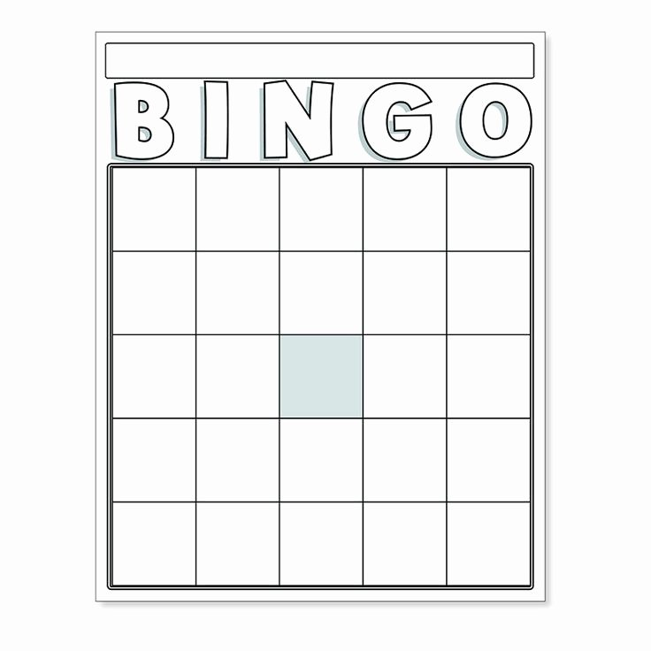 Free Bingo Card Templates Printable Fresh Best 25 Blank Bingo Cards Ideas On Pinterest