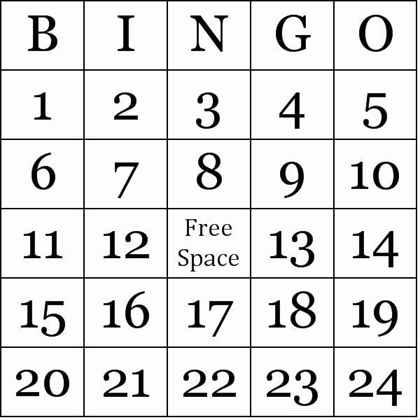 Free Bingo Card Templates Printable Fresh Free Printable Number Bingo Cards Math Games