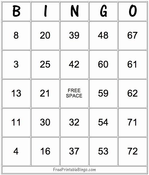 Free Bingo Card Templates Printable Inspirational 49 Printable Bingo Card Templates – Tip Junkie