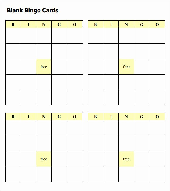 Free Bingo Card Templates Printable Inspirational Free 8 Blank Bingo Samples In Pdf