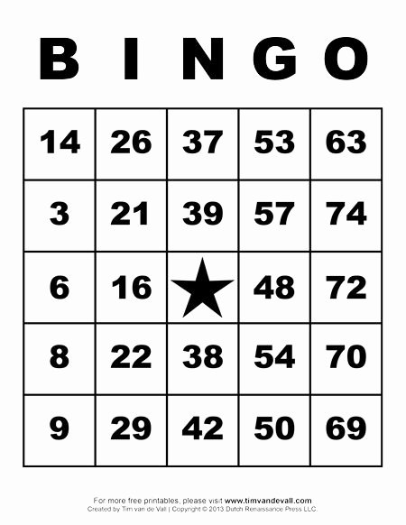Free Bingo Card Templates Printable Lovely Printable Bingo Cards Art & Crafts for Kids