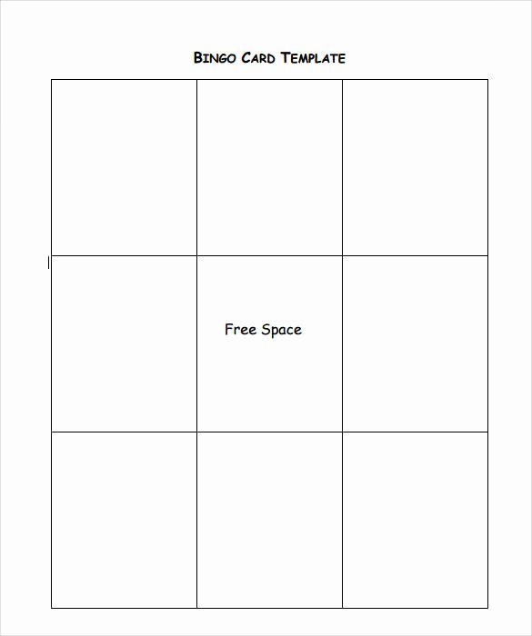 Free Bingo Card Templates Printable Lovely Sample Bingo Card 11 Documents In Pdf Word