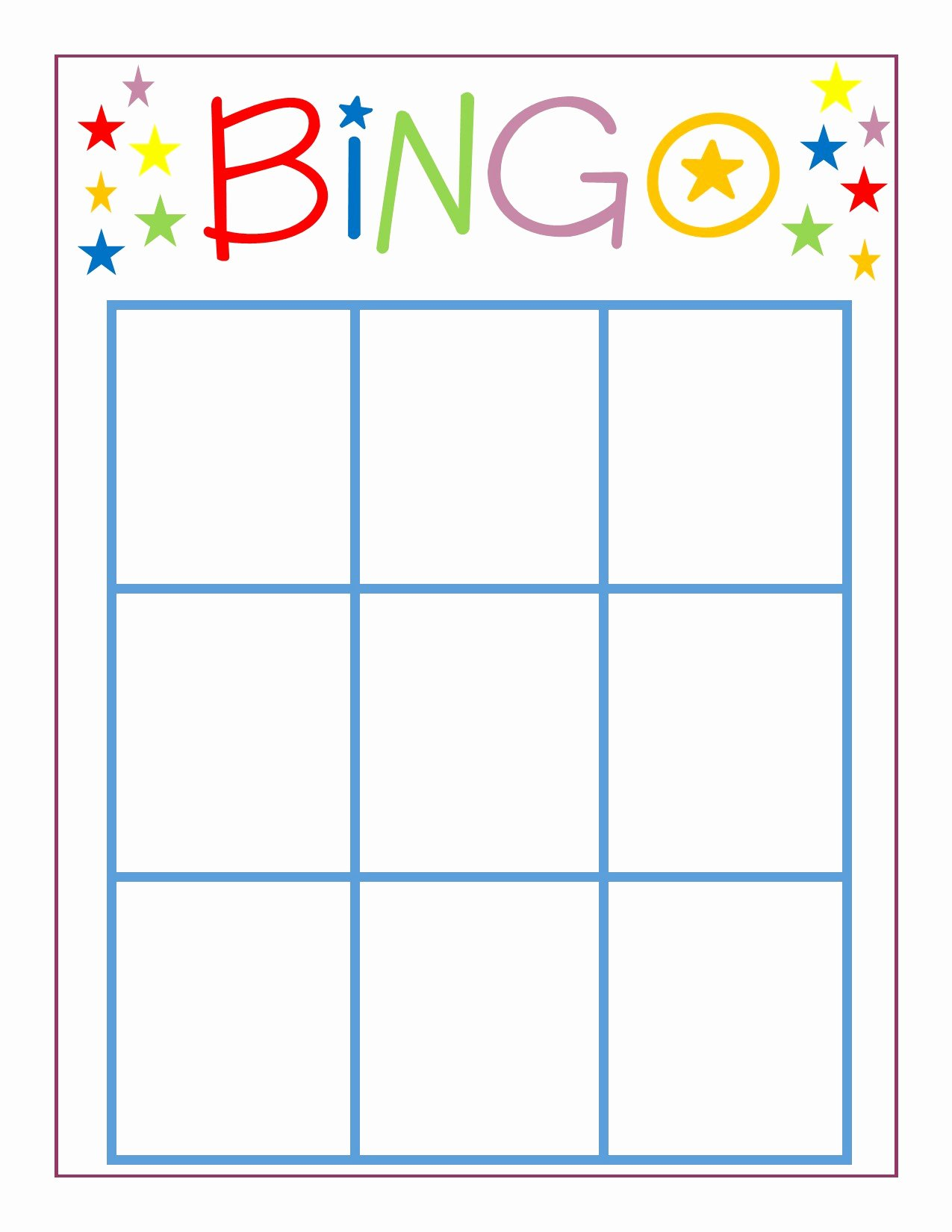 Free Bingo Card Templates Printable New Family Game Night Bingo