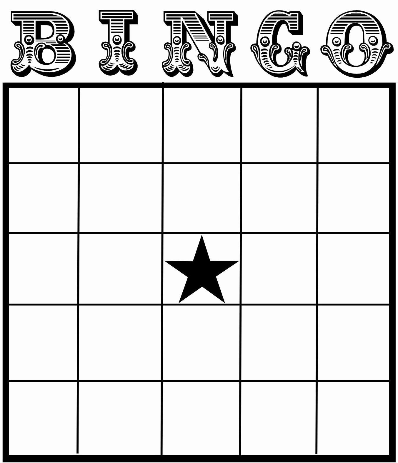 Free Bingo Card Templates Printable New Free Printable Bingo Card Template Set Your Plan & Tasks