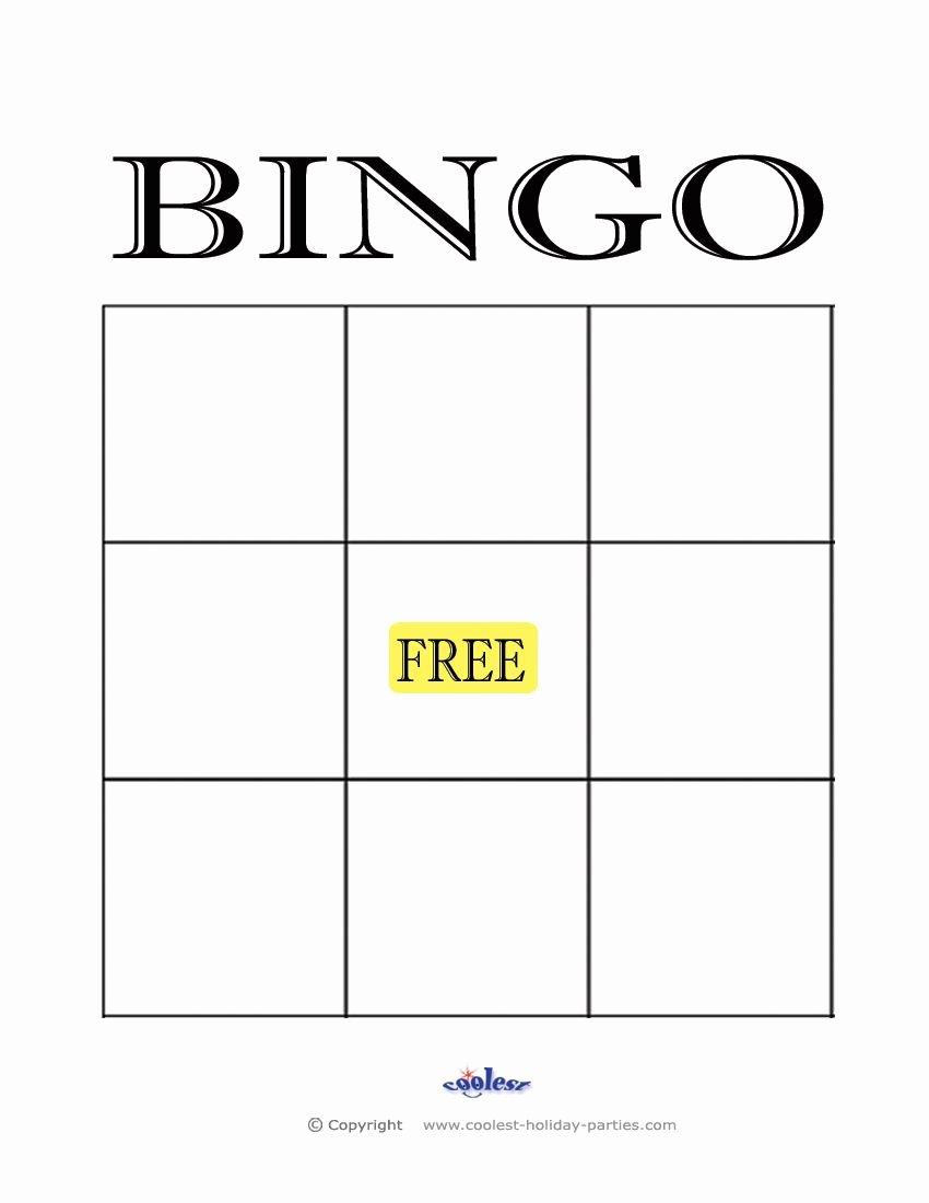Free Bingo Card Templates Printable Unique Free Printable Blank Bingo Cards Template Aba