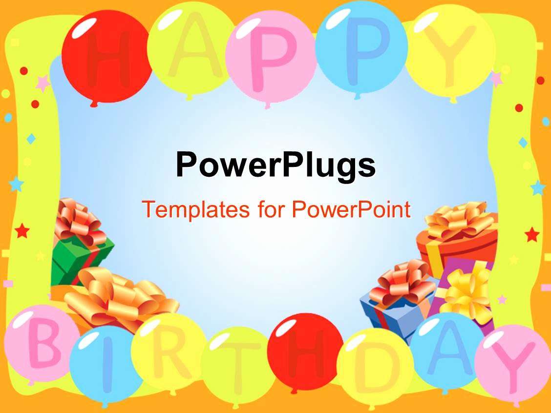 Free Birthday Powerpoint Templates Best Of Powerpoint Template A Number Of Balloon Saying Happy