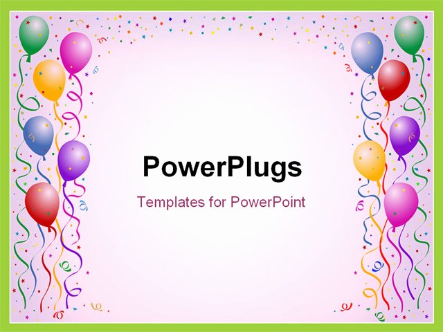 Free Birthday Powerpoint Templates Best Of Powerpoint Template Lots Of Multi Colored Balloons and