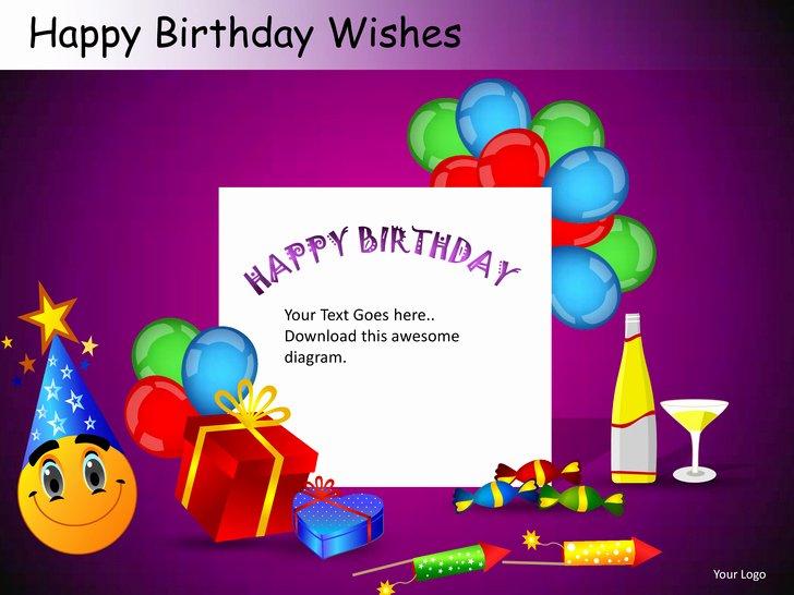 Free Birthday Powerpoint Templates Elegant Happy Birthday Wishes Powerpoint Presentation Templates