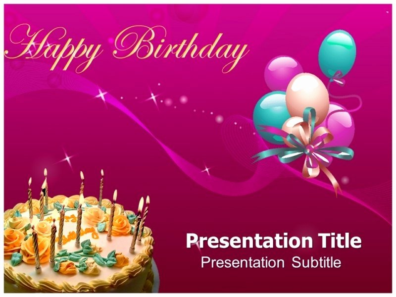 Free Birthday Powerpoint Templates Fresh Powerpoint Birthday Presentation Template