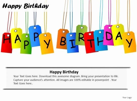 Free Birthday Powerpoint Templates Luxury Happy Birthday Powerpoint Presentation Slides