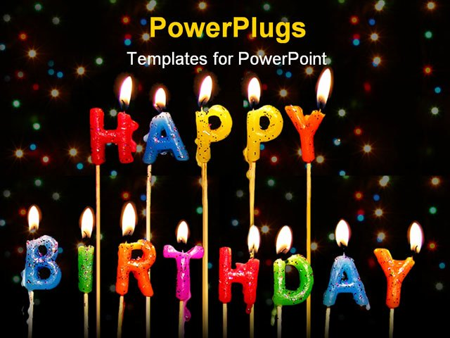 Free Birthday Powerpoint Templates Luxury Powerpoint Template Lots Of Lit Multi Colored Candles