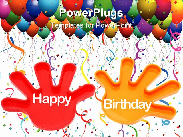 Free Birthday Powerpoint Templates New Powerpoint Template Hands with the Words Happy Birthday
