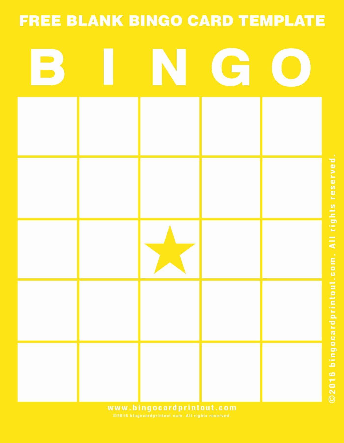 Free Blank Bingo Cards Awesome Free Blank Bingo Card Template Bingocardprintout