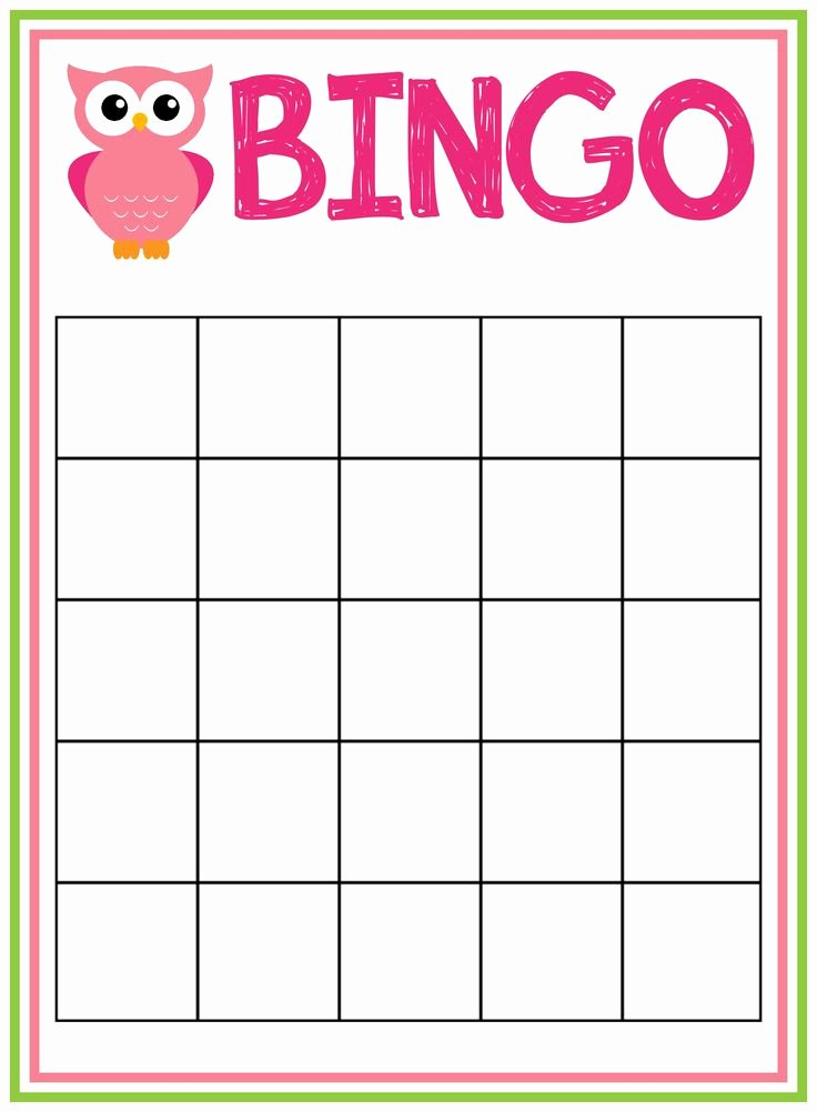 Free Blank Bingo Cards Beautiful Free Printable Owl Baby Shower Invitations