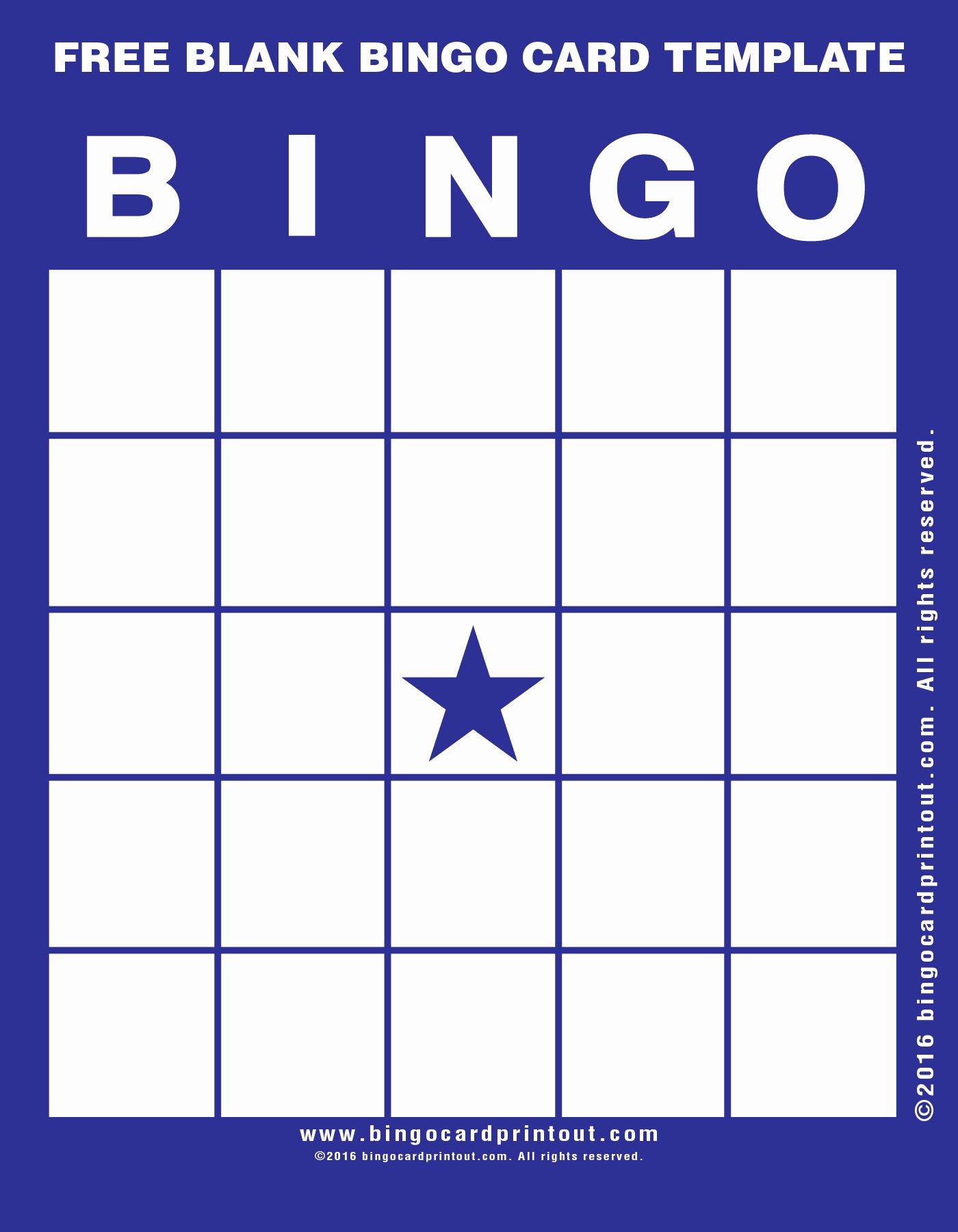 Free Blank Bingo Cards Elegant Free Blank Bingo Card Template Bingocardprintout