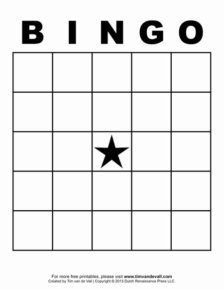Free Blank Bingo Cards Elegant Printable Blank Bingo Cards for Teachers
