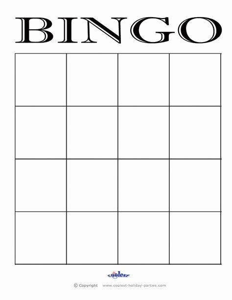 Free Blank Bingo Cards Fresh 4x4 Bingo Cards Google Search Handbells