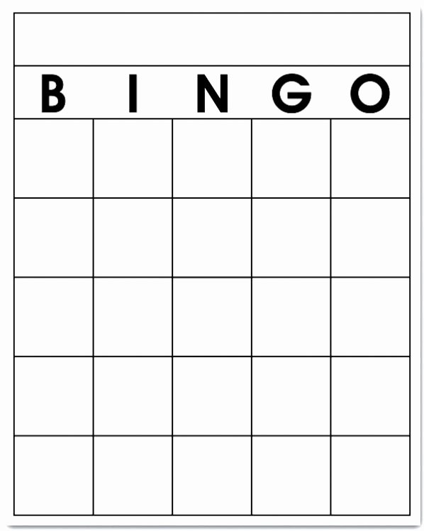 Free Blank Bingo Cards Fresh Free Blank Bingo Card Template Printable
