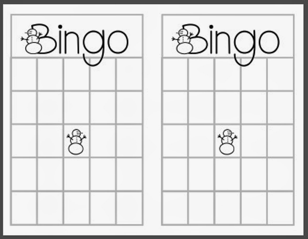 Free Blank Bingo Cards Lovely Christmas Bingo Printable