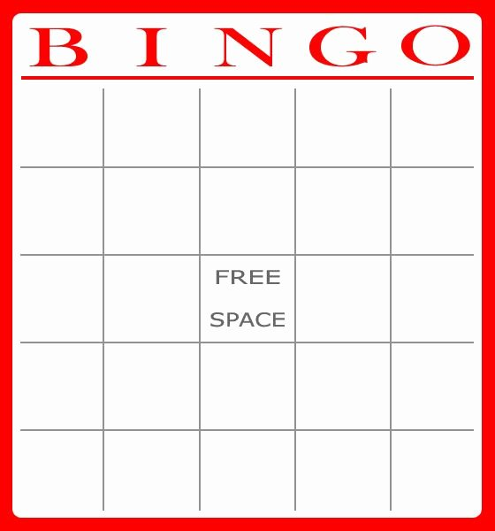 Free Blank Bingo Cards Unique Free Bingo Card Template Download