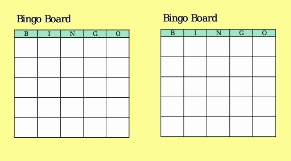 Free Blank Bingo Template Awesome 21 Bingo Card Designs Jpg Vector Eps Ai Illustrator