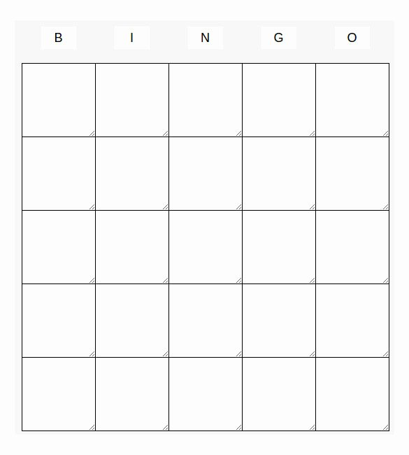Free Blank Bingo Template Awesome Blank Bingo Template 14 Free Psd Word Pdf Vector Eps