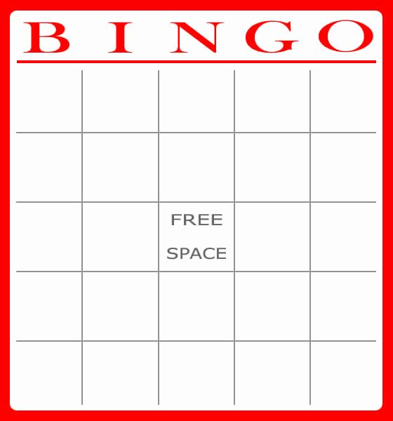 Free Blank Bingo Template Beautiful Free and Printable Baby Shower Bingo Card