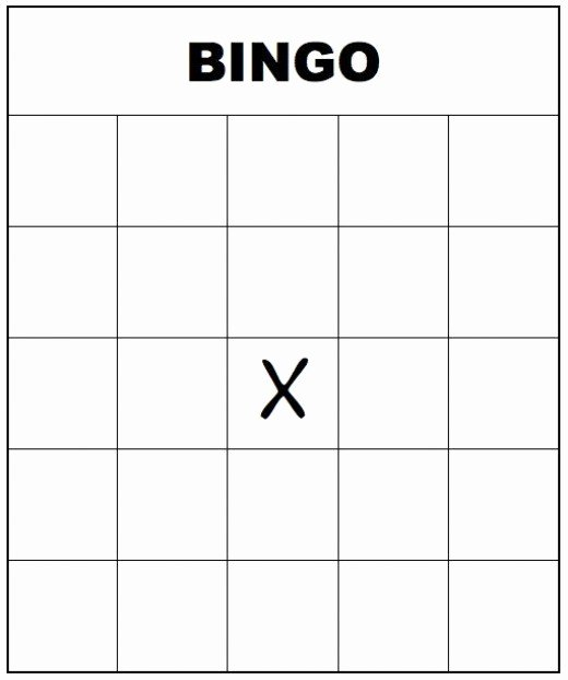 Free Blank Bingo Template Elegant Free Printable Bingo Cards for Kids and Adults