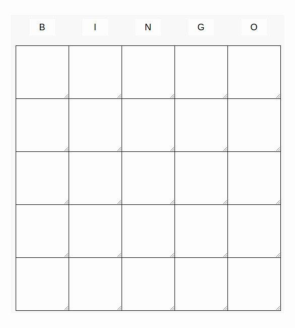 Free Blank Bingo Template Fresh Blank Bingo Template 14 Free Psd Word Pdf Vector Eps