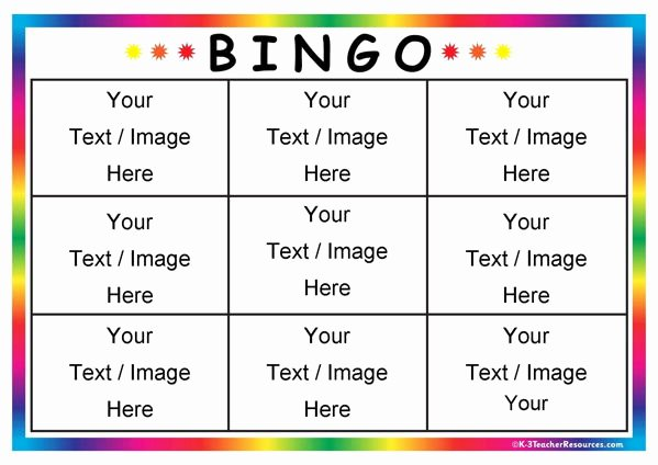 Free Blank Bingo Template Inspirational Editable Bingo Card Templates