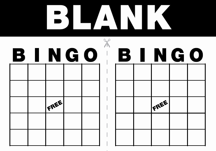 Free Blank Bingo Template Inspirational Free Printable Bingo Cards Template