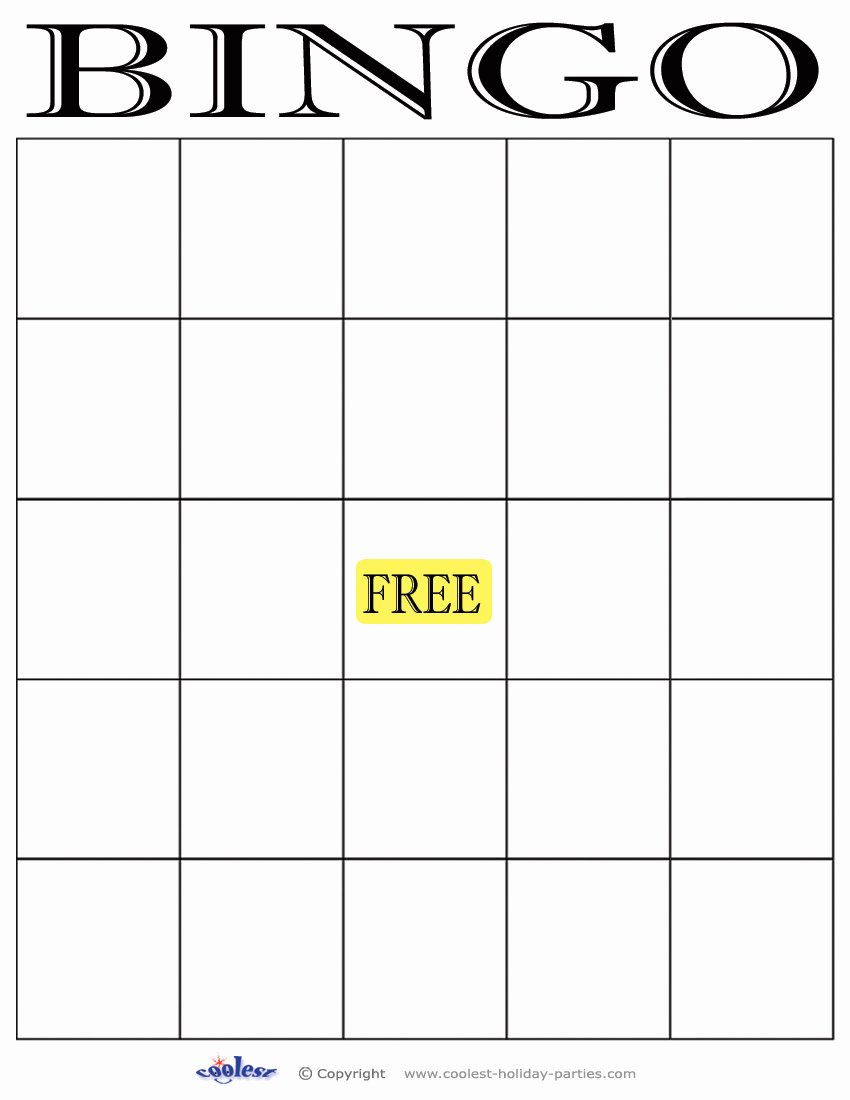 Free Blank Bingo Template Inspirational Your Blather Bingo Card